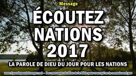 Ecoutez nations 2017 la parole de dieu du jour pour les nations minia1