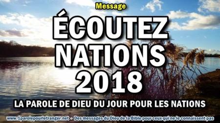 Ecoutez nations 2018 la parole de dieu du jour pour les nations minia1