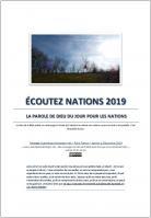 Ecoutez nations 2019 la parole de dieu du jour pour les nations miniacouv1