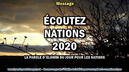 Ecoutez nations 2020 la parole d elohim du jour pour les nations minia1 450